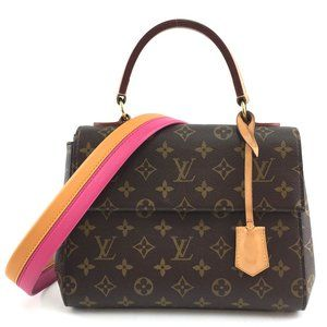 Louis Vuitton Cluny BB Top Handle Flap with Strap